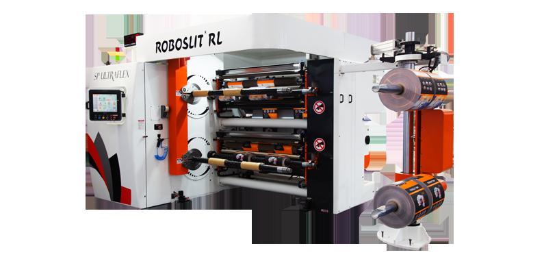 ROBOSLIT RL Front-Turret slitter rewinder machine Rear