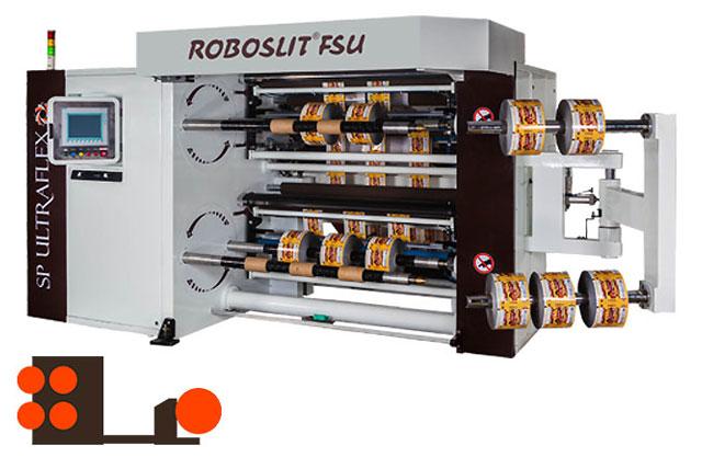 ROBOSLIT FSU turret Front-  coil cantilevered slitter rewinder Rear