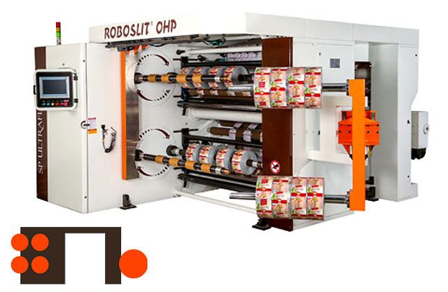 ROBOSLI OHP Front-Turret slitter rewinder machine Rear