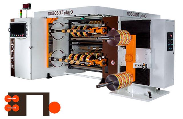 Roboslit plus Front-Turret slitter rewinder machine Rear